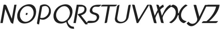 Anchor Italic bold otf (700) Font UPPERCASE