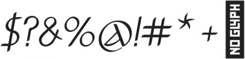 Anchor Italic otf (400) Font OTHER CHARS