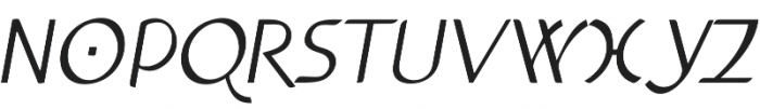 Anchor Italic otf (400) Font UPPERCASE