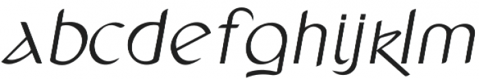 Anchor Italic otf (400) Font LOWERCASE
