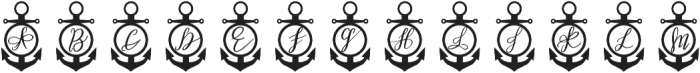 Anchor Mono Decorative otf (400) Font UPPERCASE