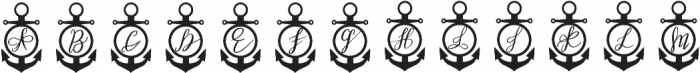 Anchor Mono Decorative otf (400) Font LOWERCASE