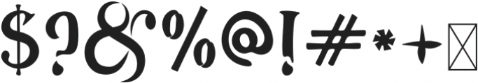 Ancient-Tulip Regular otf (400) Font OTHER CHARS