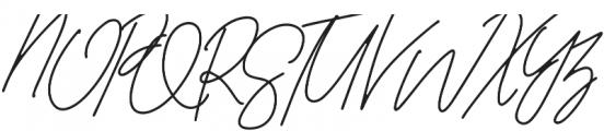 AndaloSignature Regular otf (400) Font UPPERCASE