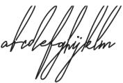 AndaloSignature Regular otf (400) Font LOWERCASE