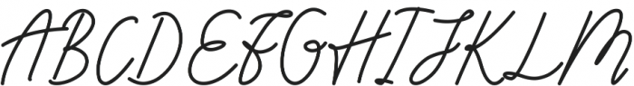 Andalusia otf (400) Font UPPERCASE