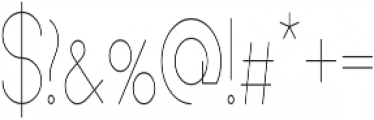 Andarian Condensed Regular otf (400) Font OTHER CHARS