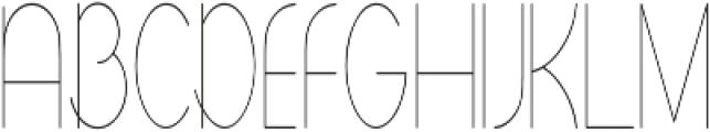 Andarian Condensed Regular otf (400) Font UPPERCASE