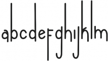 Andeglei san otf (400) Font LOWERCASE