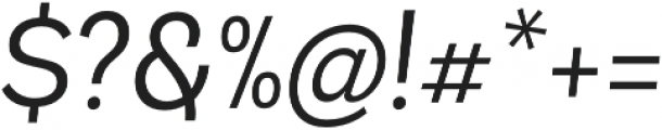 Andes Book Italic otf (400) Font OTHER CHARS