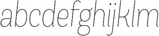 Andes Condensed UltraLight Italic otf (300) Font LOWERCASE