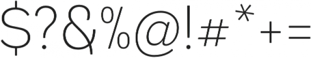 Andes Rounded ExtraLight otf (200) Font OTHER CHARS