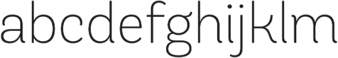 Andes Rounded ExtraLight otf (200) Font LOWERCASE