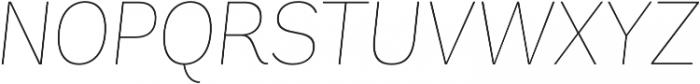 Andes UltraLight Italic otf (300) Font UPPERCASE