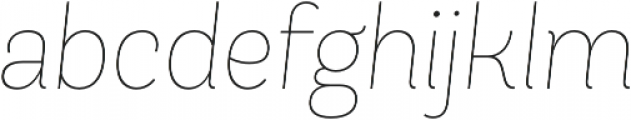 Andes UltraLight Italic otf (300) Font LOWERCASE