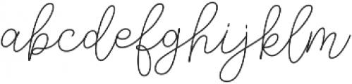Andien Nidya Script Script otf (400) Font LOWERCASE