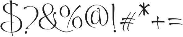 Andovai otf (400) Font OTHER CHARS