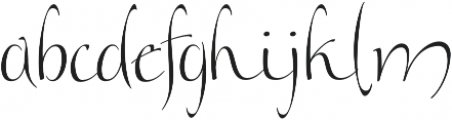 Andovai otf (400) Font LOWERCASE