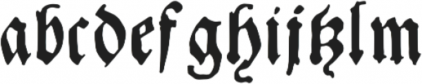 Andreae otf (400) Font LOWERCASE