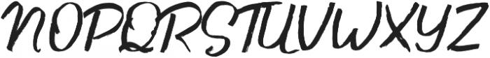 Andy Brush Font otf (400) Font UPPERCASE