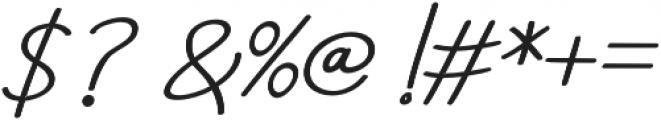 Aneisha Script Bold Regular otf (700) Font OTHER CHARS