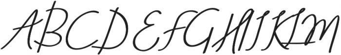 Aneisha Script Bold Regular otf (700) Font UPPERCASE