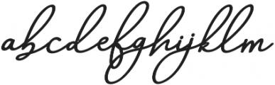 Aneisha Script Bold Regular otf (700) Font LOWERCASE