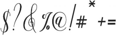 Aneisha Script Bold otf (700) Font OTHER CHARS