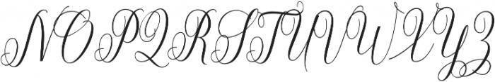Aneisha Script Bold otf (700) Font UPPERCASE