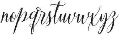 Aneisha Script Bold otf (700) Font LOWERCASE