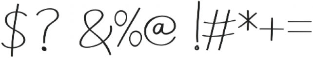 Aneisha Script Regular otf (400) Font OTHER CHARS