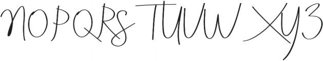 Aneisha Script Regular otf (400) Font UPPERCASE