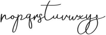 Aneisha Script Regular otf (400) Font LOWERCASE