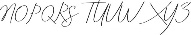 Aneisha Script italic Regular otf (400) Font UPPERCASE