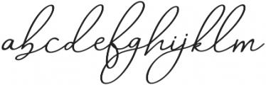 Aneisha Script italic Regular otf (400) Font LOWERCASE