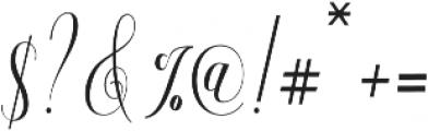 Aneisha Script otf (400) Font OTHER CHARS