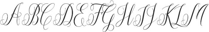 Aneisha Script otf (400) Font UPPERCASE