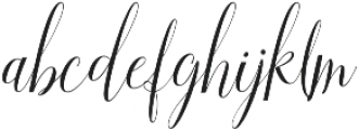 Aneisha Script otf (400) Font LOWERCASE