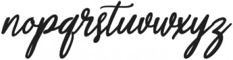 Aneisha script Regular ttf (400) Font LOWERCASE