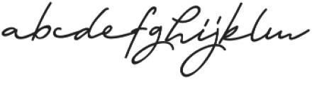 Anetha Faith Signature otf (400) Font LOWERCASE