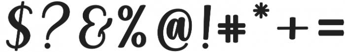 Angelica Script Regular otf (400) Font OTHER CHARS