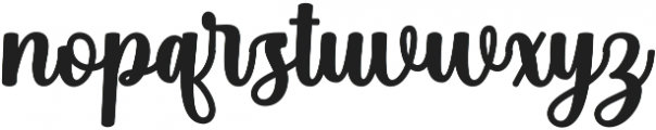 Angelica Script Regular otf (400) Font LOWERCASE