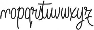 Angelique Rose Regular otf (400) Font LOWERCASE