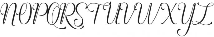 Angelline Regular otf (400) Font UPPERCASE