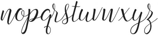 Angelline Regular otf (400) Font LOWERCASE