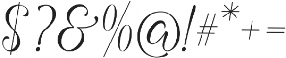 Angelline otf (400) Font OTHER CHARS