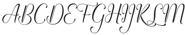 Angelline otf (400) Font UPPERCASE