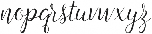 Angelline otf (400) Font LOWERCASE