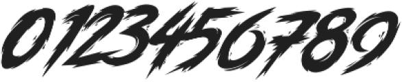 Anger Bae Slanted otf (400) Font OTHER CHARS