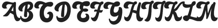 Anggada otf (400) Font UPPERCASE
